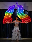 billige Blomsterpikekjoler-Dansetilbehør Scenerekvisitter / Viftslør Dame Ytelse 100% Silke LED