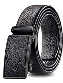 Χαμηλού Κόστους Men's Belt-Ανδρικά Μονόχρωμο Βασικό Αγκράφα