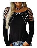 זול נשים טנקים & Camisoles-אחיד מידות גדולות טישרט - בגדי ריקוד נשים שחור