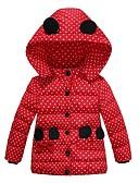 olcso Lány dzsekik és kabátok-Gyerekek Lány Alap Pöttyös Toll és pamuttal bélelt Arcpír rózsaszín