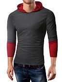 baratos Camisetas & Regatas Masculinas-Homens Camiseta Básico / Elegante Sólido / Estampa Colorida Cinza Claro