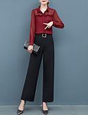 billige Todelt dress til damer-Dame Gatemote Sett Bukse Ensfarget V-hals