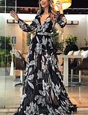 baratos Vestidos Estampados-Mulheres balanço Vestido Floral Longo