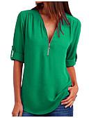 baratos Blusas Femininas-Mulheres Camiseta Sólido Roxo