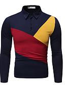 זול חולצות פולו לגברים-גיאומטרי בסיסי Polo - בגדי ריקוד גברים שחור