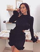 baratos Mini Vestidos-Mulheres Básico Tubinho Vestido Sólido Mini