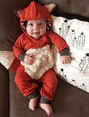 זול אוברולים טריים לתינוקות לבנים-מקשה אחת One-pieces כותנה שרוול ארוך אחיד / חג ליל כל הקדושים סגנון רחוב בנים תִינוֹק