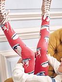 baratos Calças & Leggings para Meninas-Infantil Para Meninas Estampado Algodão Calças Vermelho