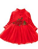 povoljno Kompletići za bebe-Dijete Djevojčice Aktivan / Osnovni Cvjetni print / Kolaž Više slojeva / Kolaž / Vezeno Dugih rukava Haljina Blushing Pink
