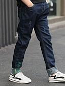 billige Drengebukser-Børn Drenge Ensfarvet Bukser Blå