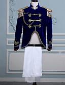povoljno Stare svjetske nošnje-Princ Retro / vintage Srednjovjekovni Kaput Hlače Izgledi Povorka maski Muškarci Kostim Plava Vintage Cosplay Party Dugih rukava Pantsuit