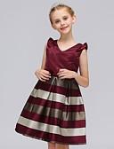 Χαμηλού Κόστους Φορέματα κοκτέιλ-Γραμμή Α Μέχρι το γόνατο Φόρεμα για Κοριτσάκι Λουλουδιών - Πολυεστέρας / Πολυεστέρας / Βαμβάκι Αμάνικο Λαιμόκοψη V με Σχέδιο Πεταλούδα / Ζώνη / Πεταλούδα