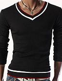 povoljno Muške duge i kratke hlače-Majica s rukavima Muškarci - Osnovni / Elegantno Dnevno / Sport Color block Crn