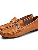 ราคาถูก เบลเซอร์ &สูทผู้ชาย-สำหรับผู้ชาย รองเท้าหนัง หนังสัตว์ / แน๊บป้า Leather ฤดูร้อนฤดูใบไม้ผลิ / ฤดูใบไม้ร่วง & ฤดูหนาว อังกฤษ รองเท้าส้นเตี้ยทำมาจากหนังและรองเท้าสวมแบบไม่มีเชือก ระบายอากาศ สีดำ / สีน้ำตาล / ขาว