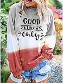 olcso Női kapucnis felsők és pulóverek-Női Alkalmi Pulóver Szöveg