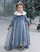 povoljno Beba & Djeca-Djeca Dijete koje je tek prohodalo Djevojčice Aktivan slatko Jednobojni Halloween Dugih rukava Maxi Haljina Plava
