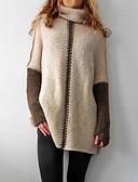 povoljno Nova moderna odjeća-Žene Jednobojni Dugih rukava Pullover Džemper od džempera, Uski okrugli izrez Sive boje / Žutomrk S / M / L