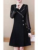 povoljno Ženske haljine-Žene Little Black Haljina Jednobojni Iznad koljena