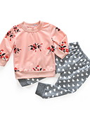 povoljno Kompletići za bebe-Dijete Djevojčice Ulični šik Cvjetni print Dugih rukava Regularna Komplet odjeće Blushing Pink