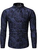 baratos Camisas Masculinas-Homens Camisa Social Floral Vinho