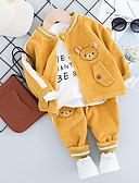 billige Sett med babyklær-Baby Jente Aktiv / Grunnleggende Trykt mønster Trykt mønster Langermet Normal Normal Tøysett Lilla