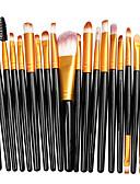 billige Sminkebørstesett-la milee 20stk sminke børster sett øyeskygge foundation pulver eyeliner øyenvippe leppe sminke børste kosmetisk skjønnhetsverktøy kit varmt