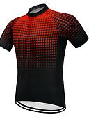povoljno Biciklističke majice i kompleti-Vendull Muškarci Kratkih rukava Biciklistička majica Crna / crvena Postupno Bicikl Biciklistička majica Majice Brdski biciklizam biciklom na cesti Prozračnost Quick dry Anatomski dizajn Sportski Zima