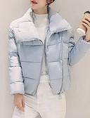 olcso Női hosszú kabátok és parkák-Női Egyszínű Kosaras, Poliészter / POLY Fekete / Világoskék / Arcpír rózsaszín M / L / XL