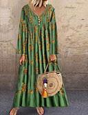 olcso Női ruhák-Női Egyenes Ruha Virágos Maxi