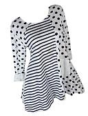 billige T-skjorter til damer-T-skjorte Dame - Stripet Hvit