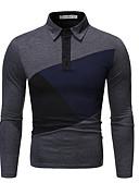 Χαμηλού Κόστους Κοστούμια-Ανδρικά Polo Βασικό Γεωμετρικό Μαύρο