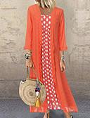 baratos Vestidos Estampados-Mulheres balanço Vestido Poá Longo