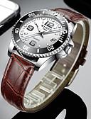 Χαμηλού Κόστους Πολυτελή Ρολόγια-WLISTH Ανδρικά Ρολόι Φορέματος Χαλαζίας Επίσημο Στυλ Μοντέρνο Στυλ Συνθετικό δέρμα Μαύρο / Καφέ 30 m Ημερολόγιο Νυχτερινή λάμψη Αναλογικό Πολυτέλεια Μοντέρνα - Μαύρο Καφέ / Ενας χρόνος