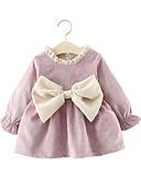 povoljno Haljinice za bebe-Dijete Djevojčice Ulični šik Jednobojni Dugih rukava Haljina purpurna boja