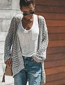 povoljno Ženski džemperi-Žene Jednobojni Dugih rukava Širok kroj Kardigan, V izrez Sive boje S / M / L