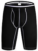 olcso Férfi pólók és atléták-férfi normál pamut boxer alsóneműk - alapvető 1 darab derék közepén fekete bor világosszürke m l xl