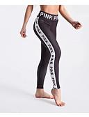halpa Naisten housut-Naisten Urheilullinen Jogger Housut - Yhtenäinen / Painettu Musta S M L