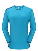 ราคาถูก ชุดลำลองชาย-สำหรับผู้หญิง Hiking T-shirt แขนยาว กลางแจ้ง ระบายอากาศ แห้งเร็ว Sweat-wicking สบาย เสื้อยึด ฤดูใบไม้ร่วง ฤดูหนาว POLY สีดำ แดง ฟ้า แคมป์ปิ้ง / การปีนเขา / เที่ยวถ้ำ การเดินทาง