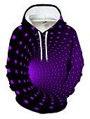 Χαμηλού Κόστους Αντρικές Μπλούζες με Κουκούλα & Φούτερ-Ανδρικά Καθημερινό / Βασικό Φούτερ με Κουκούλα - Γεωμετρικό / Συνδυασμός Χρωμάτων / 3D