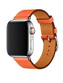 baratos Bandas de Smartwatch-Pulseiras de Relógio para Apple Watch Series 4/3/2/1 Apple Banda de negócios Couro Legitimo Tira de Pulso