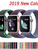 baratos Bandas de Smartwatch-Pulseira de nylon para apple watch band 44mm 40mm 42mm 38mm pulseira de cinto esportivo para apple watch series 5/4/3/2/1 acessórios
