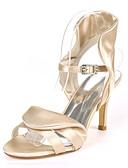 povoljno Print Dresses-Žene Vjenčanje Cipele Stiletto potpetica Otvoreno toe Kopča Saten Klasik Jesen / Proljeće ljeto Crn / Obala / purpurna boja / Zabava i večer