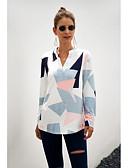 billige Bluser-Skjorte Dame - Geometrisk Hvit