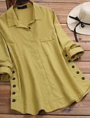 billige Bluser-Skjorte Dame - Ensfarget Gul