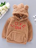 お買い得  赤ちゃん フーディーズ&スウェットシャツ-赤ちゃん 女の子 ベーシック ソリッド 長袖 フーディーズ&スウェットシャツ ピンク