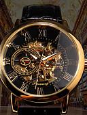 זול שעונים מכאניים-FORSINING בגדי ריקוד גברים שעון מכני אוטומטי נמתח לבד סגנון פורמלי דמוי עור שחור / חום 30 m חריתה חלולה זוהר בחושך אנלוגי פאר אופנתי - שחור שחור לבן זהב + שחור / מתכת אל חלד