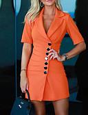 olcso Női ruhák-Női Alap Hüvely Ruha Egyszínű Mini