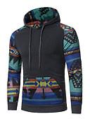 ราคาถูก เสื้อฮู้ดและเสื้อกันหนาว-สำหรับผู้ชาย พื้นฐาน Hoodie รูปเรขาคณิต
