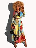 billige Romantiske blonder-Dame Elegant A-linje Kjole - Geometrisk Maksi