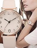baratos Relógios de quartzo-Mulheres Relógios de Quartzo Fashion Preta Vermelho Marrom Couro PU Quartzo Preto Marfim Vermelho Relógio Casual 1 Pça. Analógico Um ano Ciclo de Vida da Bateria / Aço Inoxidável